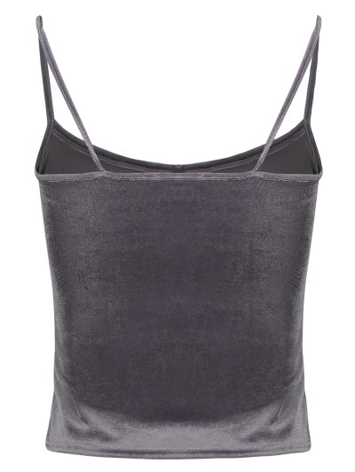 Camisole Velvet Top - GRAY ONE SIZE Mobile