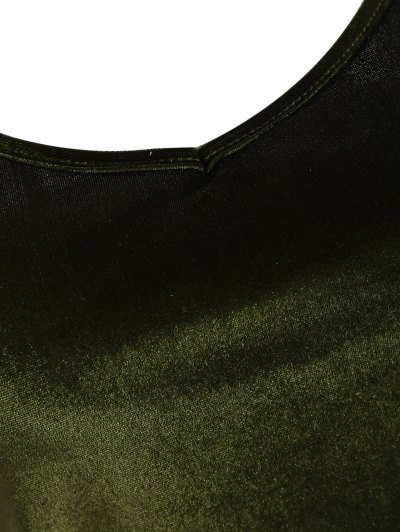 Camisole Velvet Top - ARMY GREEN ONE SIZE Mobile