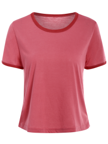 Contrasting Piped Ringer T-Shirt