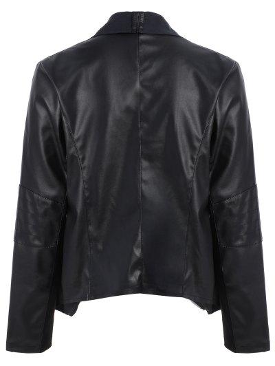 Zippered PU Leather Jacket от Zaful.com INT