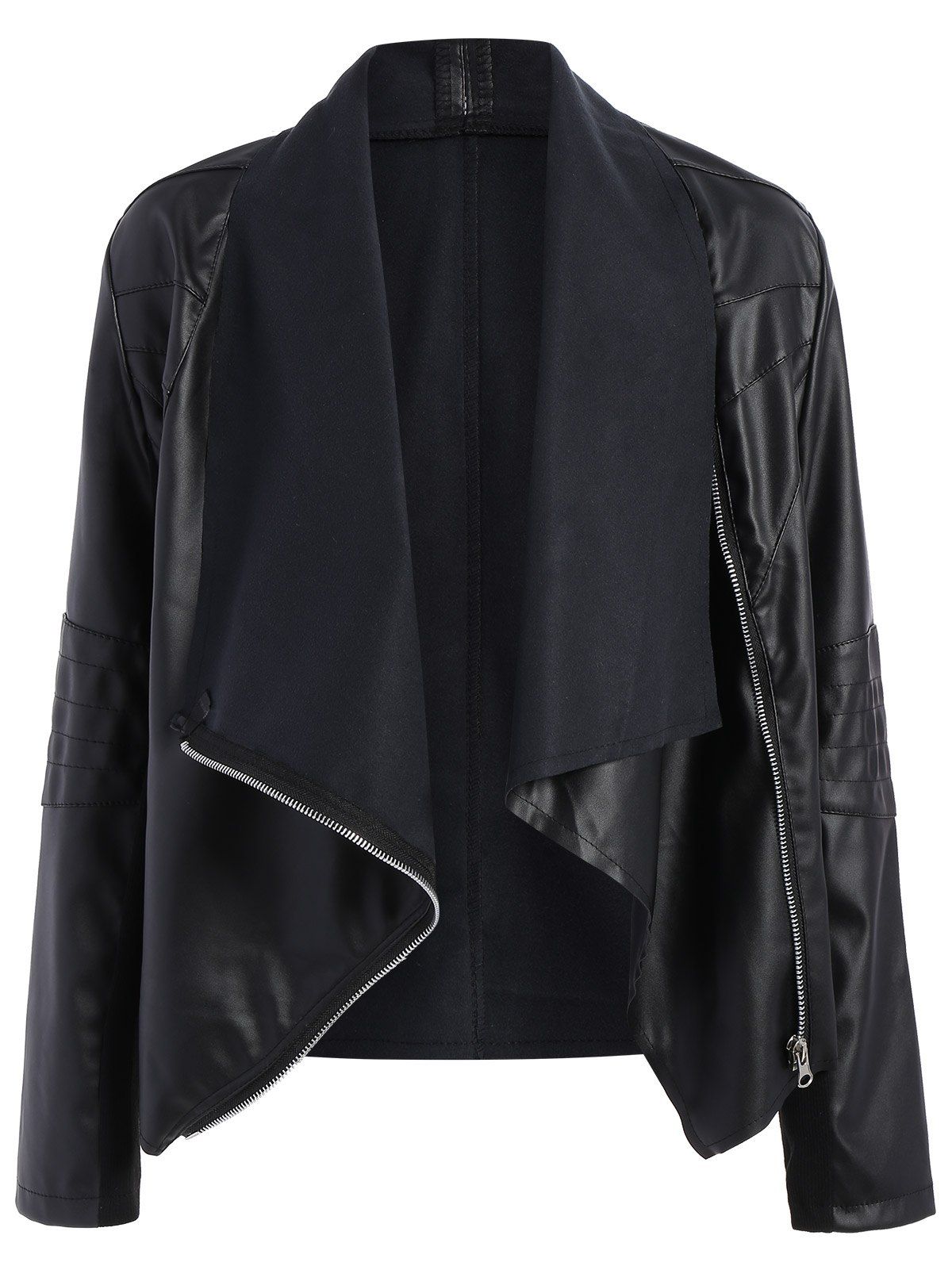 Zippered PU Leather Jacket от Zaful.com INT