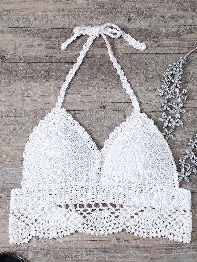 Crochet Bralette Bikini Top - White One Size(fit Size Xs To M)