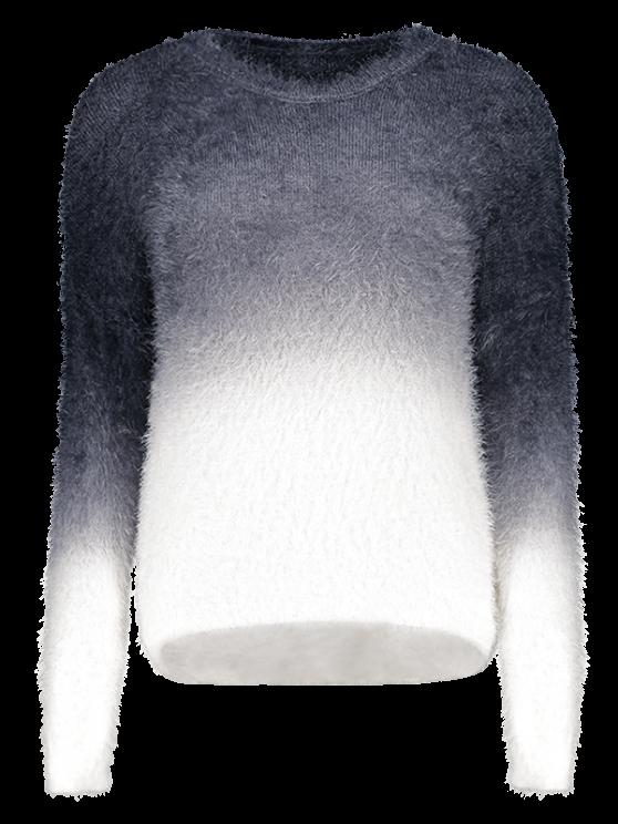 Ombre mohair suéter - Negro Única Talla