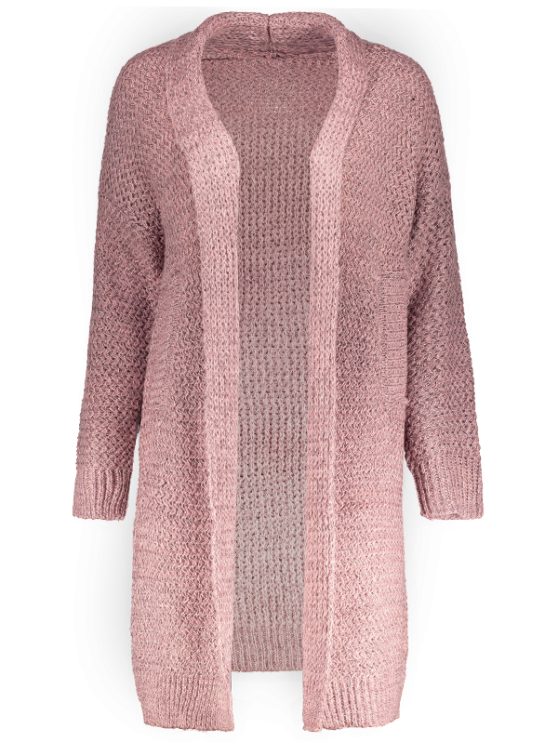 Pockets Cardigan - PINK ONE SIZE Mobile