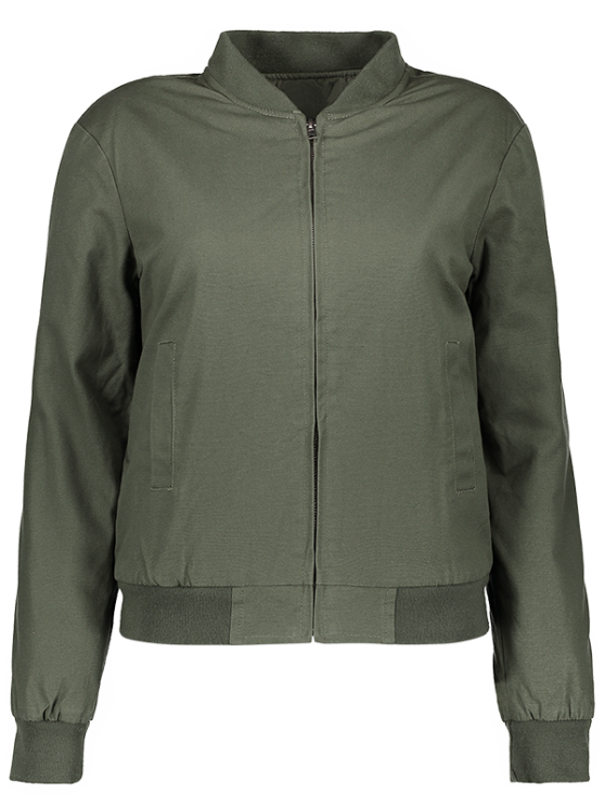 Thick Bomber Jacket - ARMY GREEN L Mobile