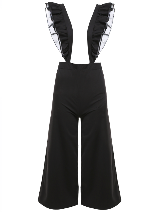 new Flounced Culotte Overalls - BLACK M
