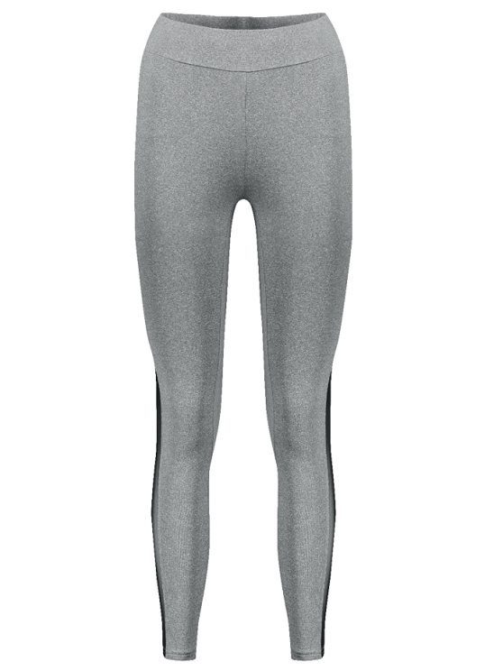 Gauze Skinny Sport Leggings - GRAY S Mobile