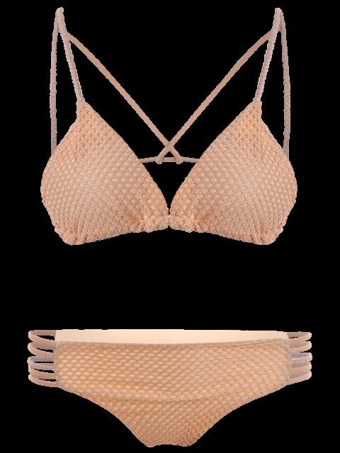 best Braid Strappy Grid Bikini Set - COMPLEXION M Mobile
