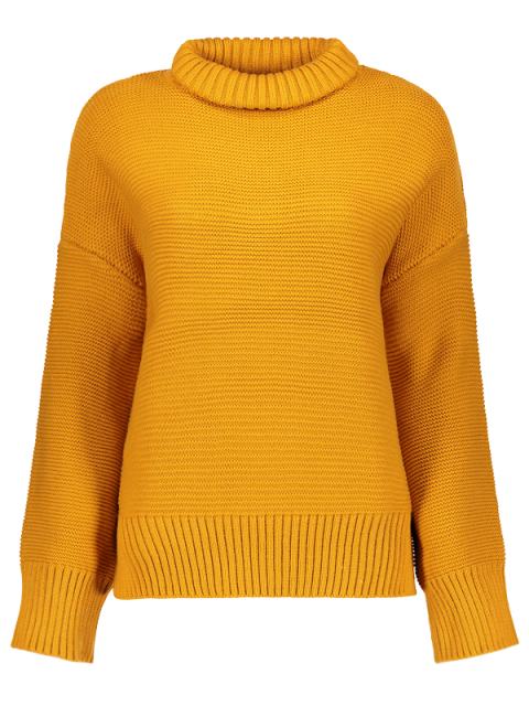 womens Oversized Turtle Neck Sweater - GINGER ONE SIZE Mobile
