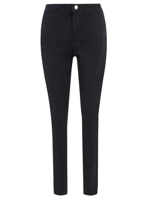 unique High Waist Skinny Tapered Jeans - BLACK XL Mobile