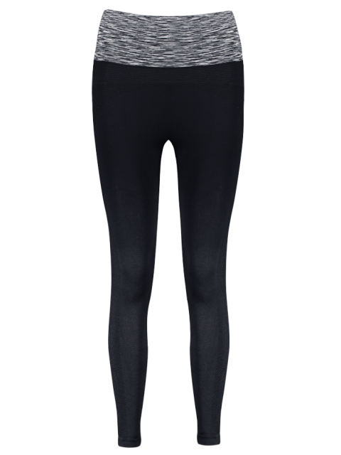 new Stretchy Space Dyed Yoga Leggings - GRAY M Mobile