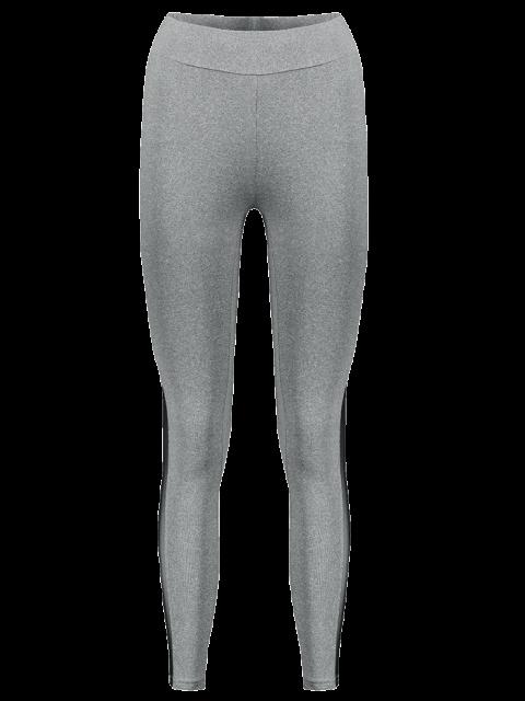 Collants de sport gris transparents - Gris M Mobile