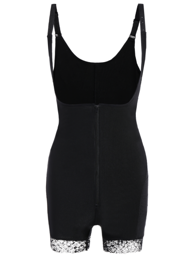 Straps Backless Zip Up Full Body Corset - BLACK 6XL Mobile