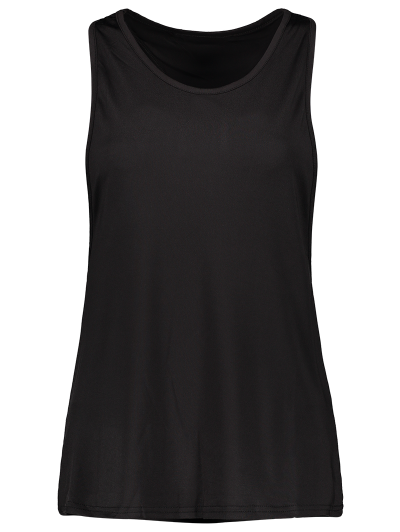 Dropped Armhole Tank Top - BLACK L Mobile
