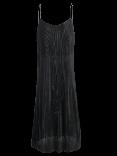 Pleated Slip Dress - BLACK S Mobile