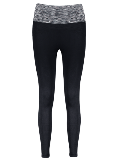 Stretchy Space Dyed Yoga Leggings - GRAY S Mobile