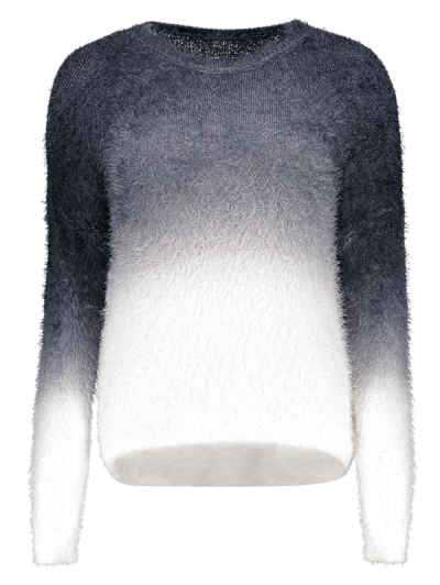 Ombre Mohair Sweater - Black