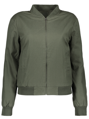 Thick Bomber Jacket - Army Green