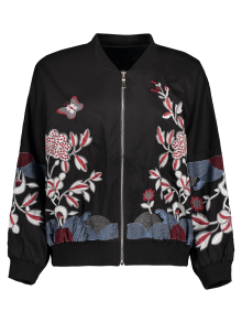 Puffed Sleeve Bomber Jacket