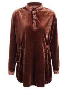 Mini Velvet Tunic Dress