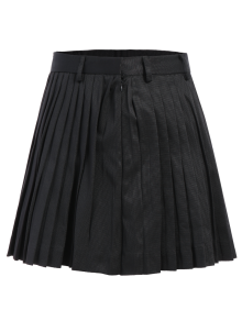 Pleated A-Line Mini Skirt