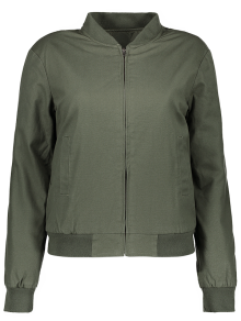 Thick Bomber Jacket - Army Green S