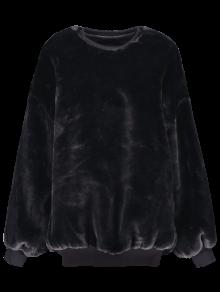 Faux Fur Sherpa Sweatshirt