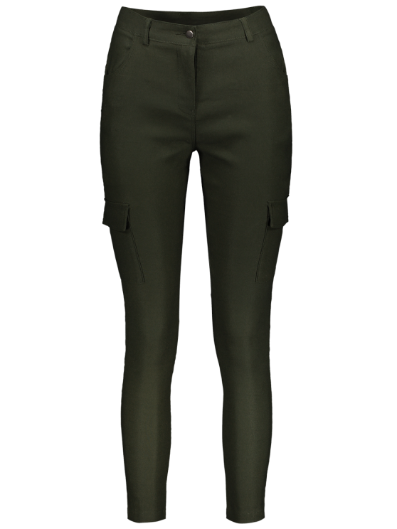 Casual Multiple Pockets Pants - ARMY GREEN S Mobile
