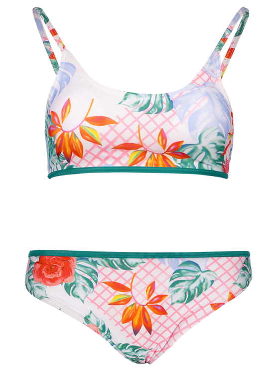 Cami Print Bikini Set - GREEN S Mobile