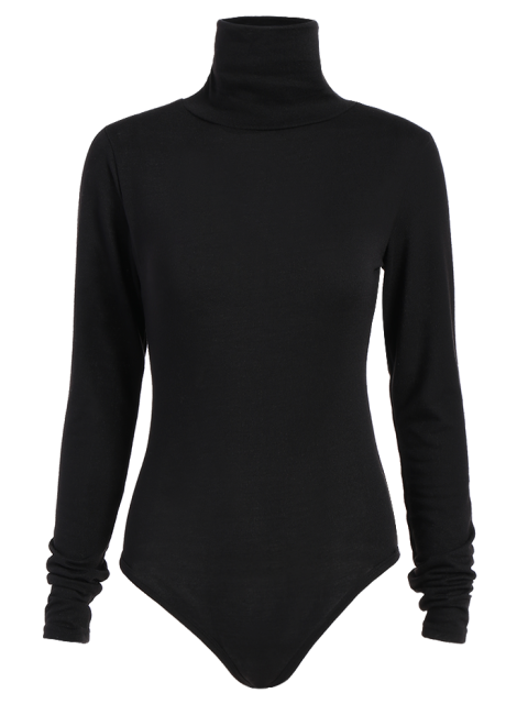 outfits Gloved Sleeve Turtle Neck Bodysuit - BLACK XL Mobile