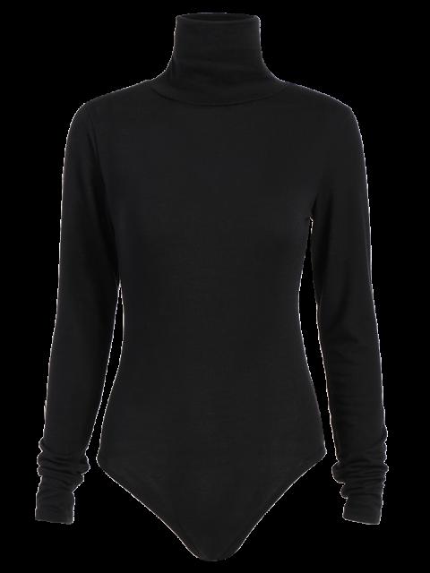 shops Gloved Sleeve Turtle Neck Bodysuit - BLACK M Mobile