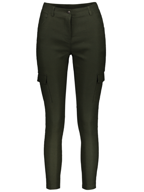 women's Casual Multiple Pockets Pants - ARMY GREEN M Mobile