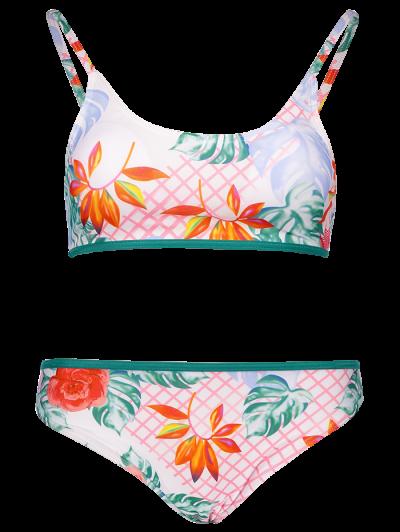 Cami Print Bikini Set - GREEN L Mobile