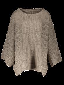 Casual Flare Sleeve Sweater - Dark Coffee
