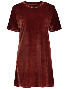 Velvet Mini Shift Layering Dress