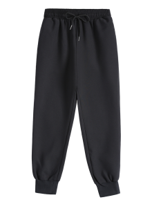 Drawstring Design Jogging Pants - Black S