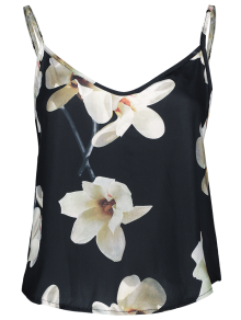 Adjusted Floral Satin Camisole