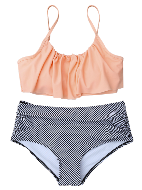 High Rise Flounce Bikini - COLORMIX XL Mobile