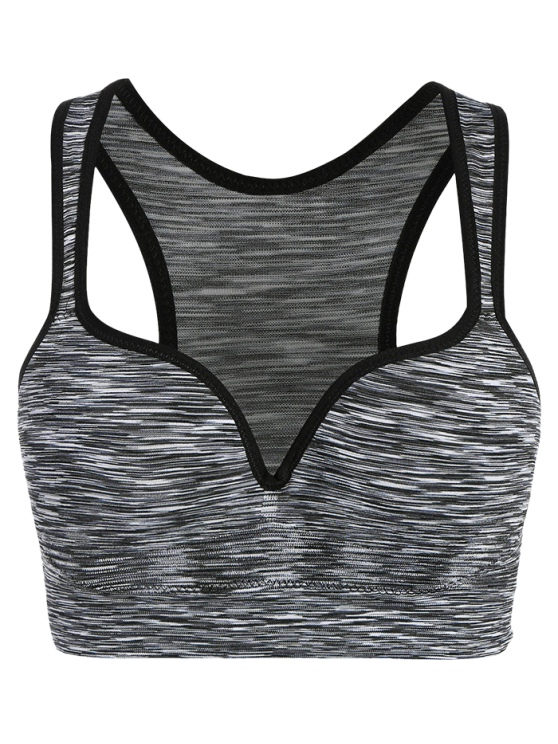 Space Dye Low Impact Sports Bra - GRAY S Mobile