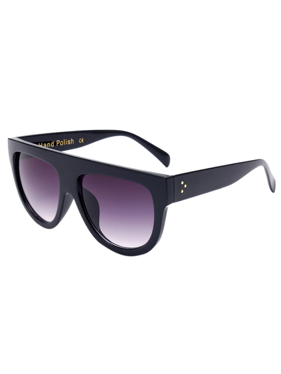 shop Simple Full-Rim Black Sunglasses - BLACK