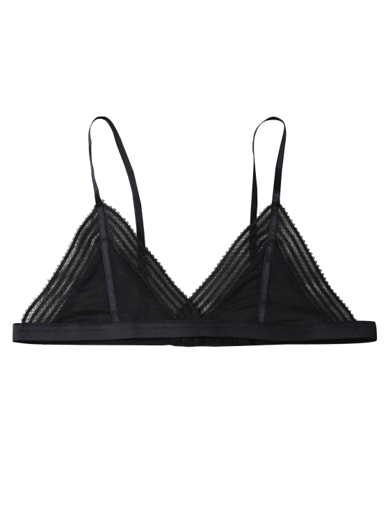 Push Up Adjustable Straps Swim Top - BLACK XL Mobile