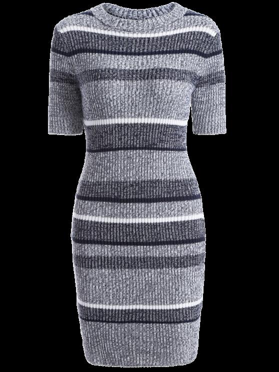 mini Robe-Pull moulante - Multicolore TAILLE MOYENNE