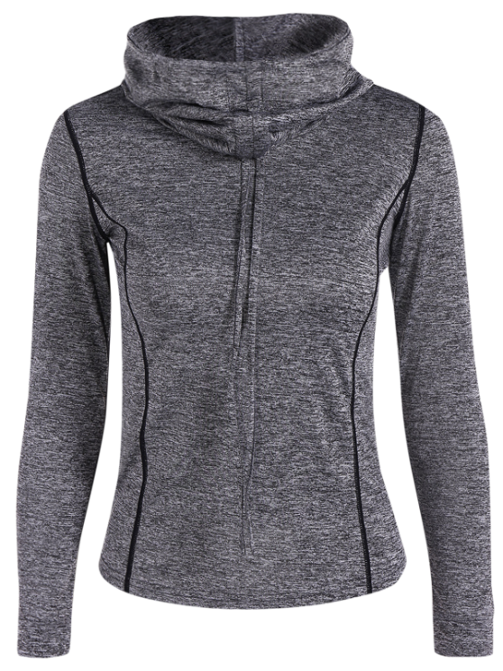 Sports Drawstring Hoodie - GRAY S Mobile