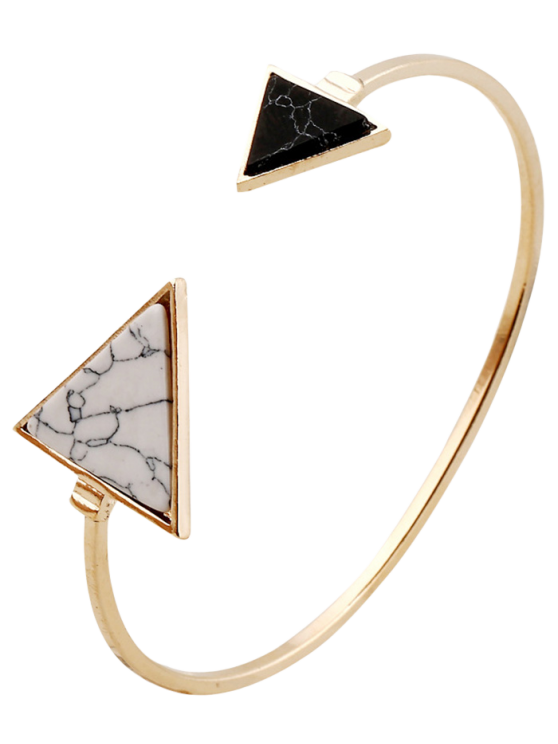Stone Triangle Cuff Bracelet - GOLDEN  Mobile