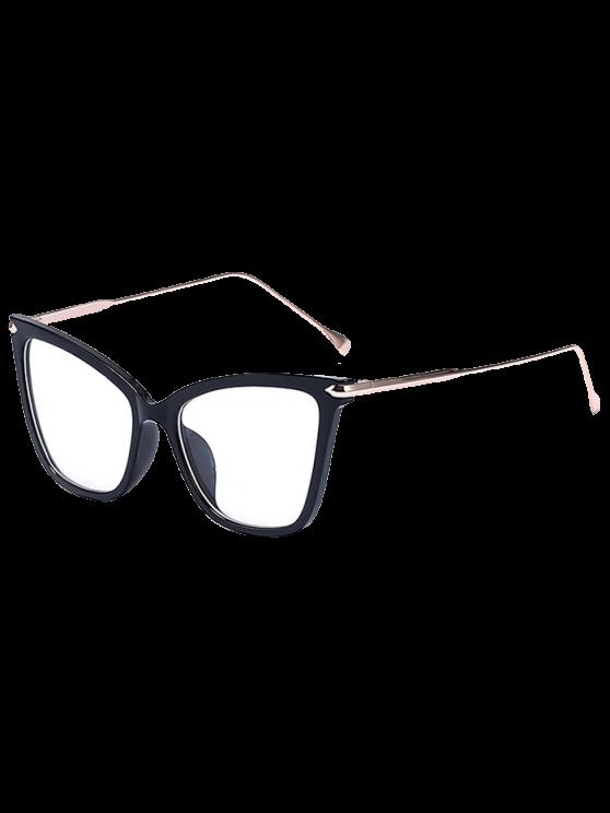 Gafas de sol negro de la mariposa con encanto - Transparente
