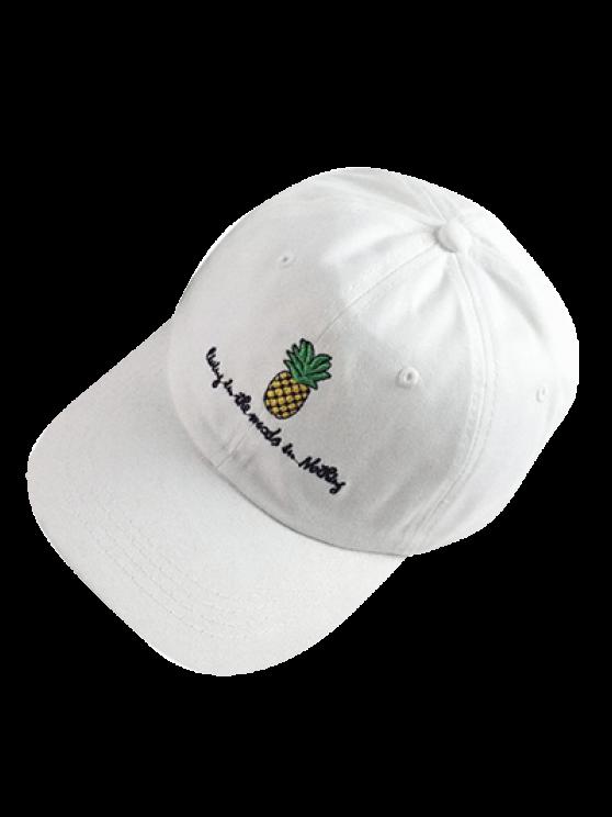 fashion Pineapple Baseball Cap - WHITE