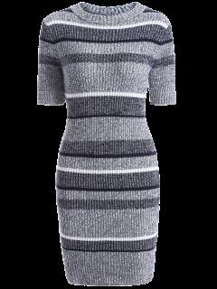 Short Sleeve Bodycon Sweater Dress