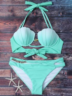Mermaid Shell Halter Bikini - Green S