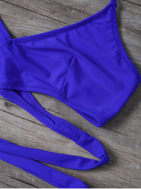 outfit Wrap String Bralette Swimsuits - BLUE S Mobile