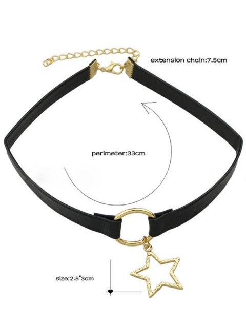 collier ras de cou toile en faux cuir noir colliers zaful. Black Bedroom Furniture Sets. Home Design Ideas